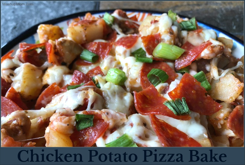 chicken potato pizza bake