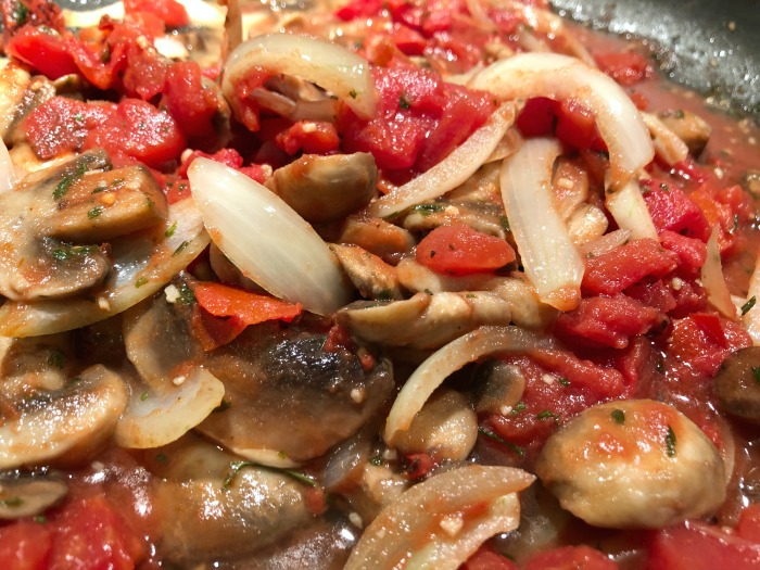 mushrooms onions and tomatoes