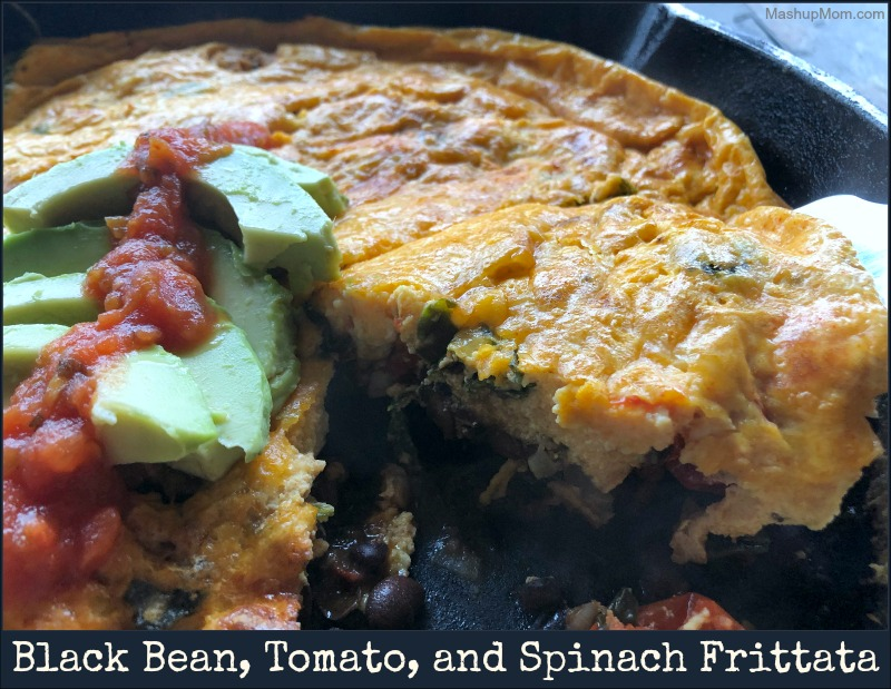 black bean, tomato, & spinach frittata