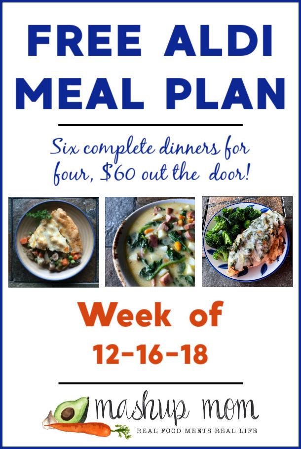 aldi meal plan week of 12-16-18