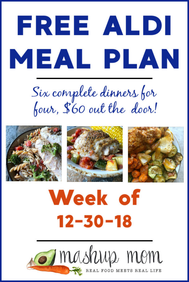 Free ALDI Meal Plan week of 12/30/18 - 1/5/19