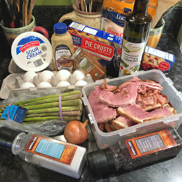 ham & asparagus quiche ingredients