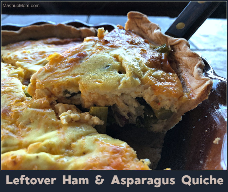 Lefover ham & asparagus quiche is a great use for any leftover Easter ham