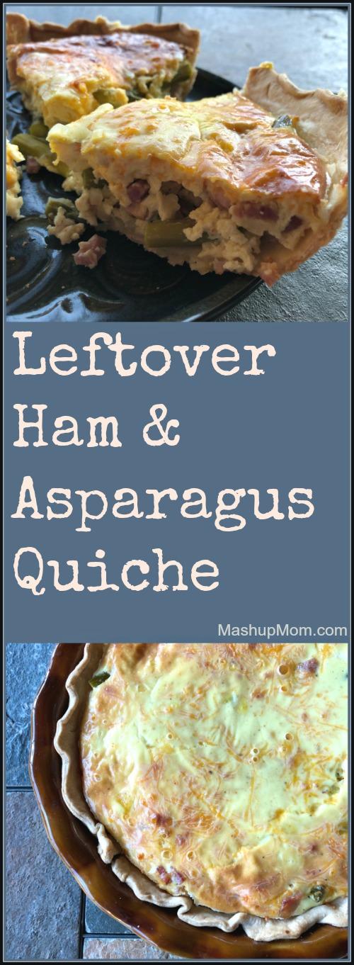 quiche with leftover ham & asparagus