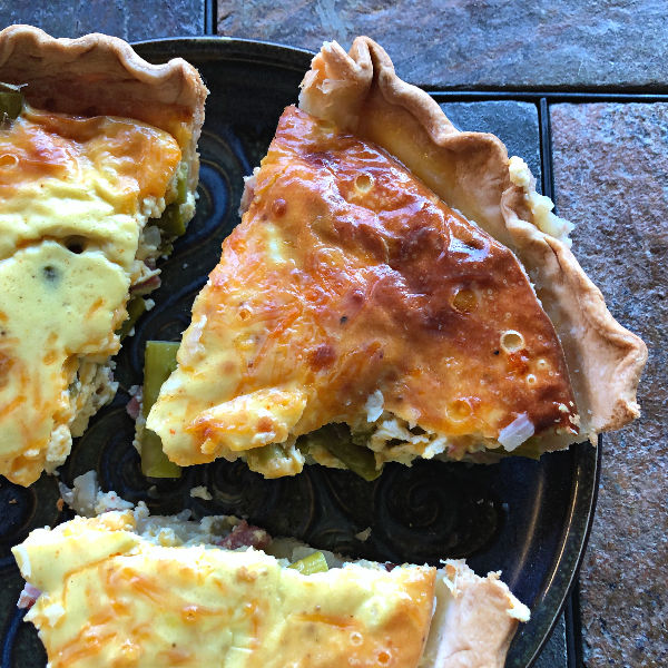 leftover ham and asparagus quiche