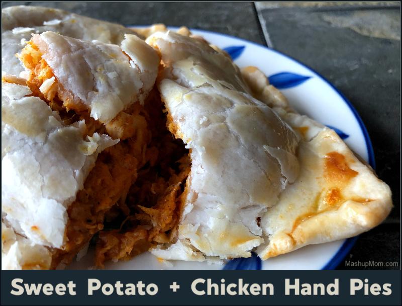 sweet potato + chicken hand pie