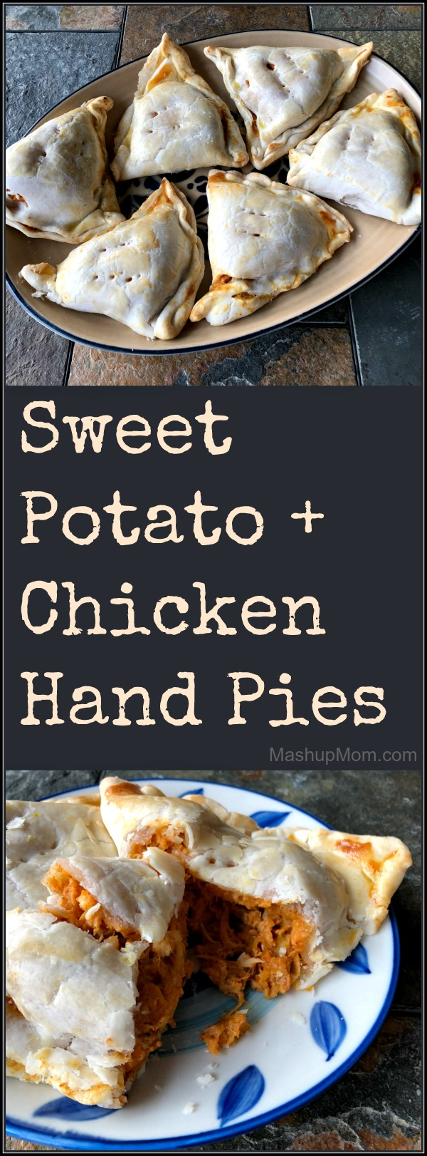 plates of sweet potato and chicken hand pies
