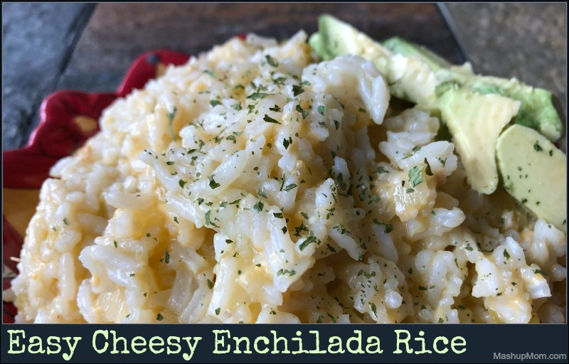 cheesy enchilada rice