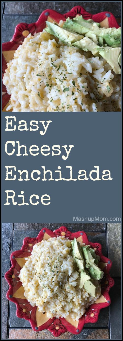 easy cheesy enchilada rice side dish recipe