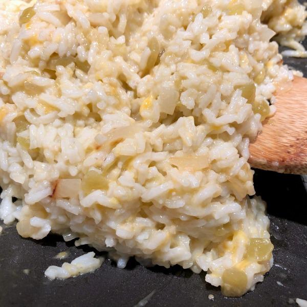 enchilada rice in skillet