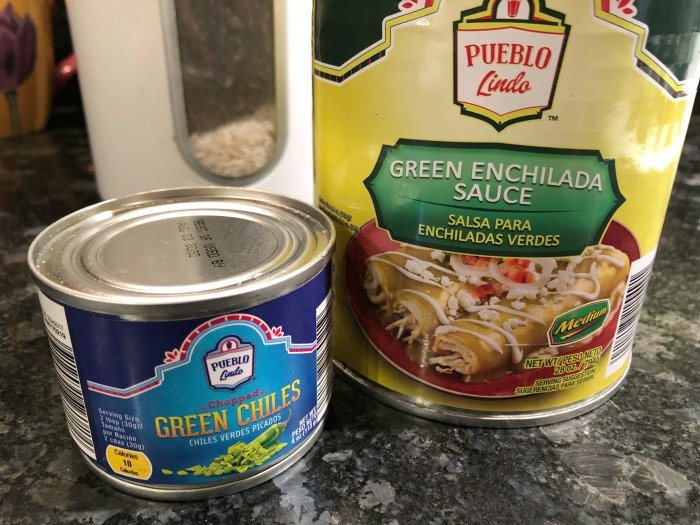 enchilada sauce and chiles