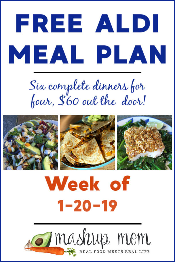 free aldi meal plan january 2019