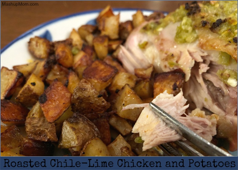 roasted chile-lime chicken and potatoes