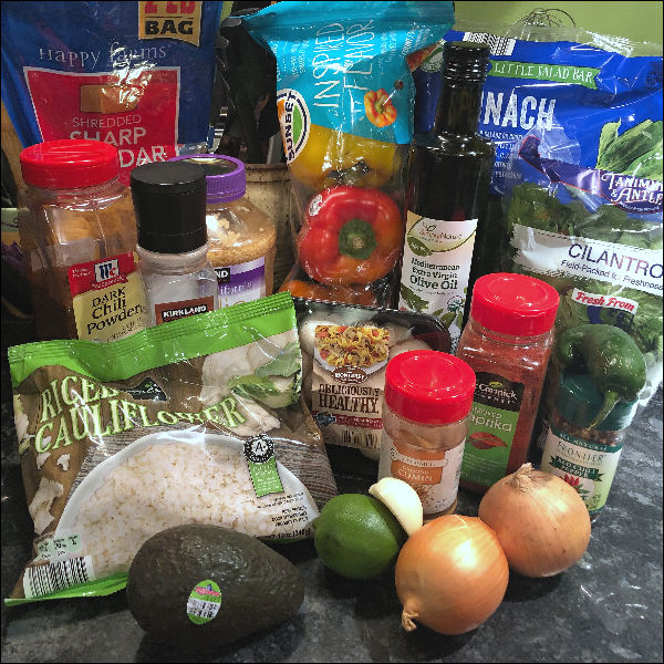 veggie fajita bowls ingredients