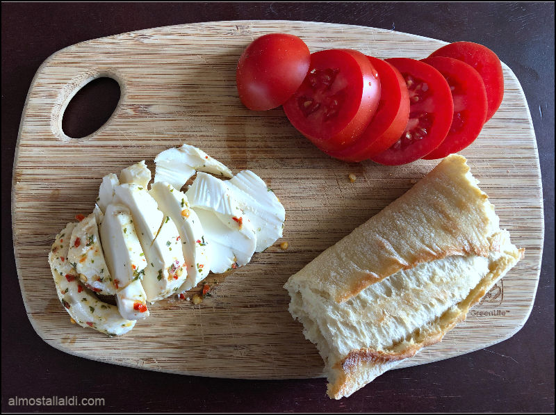 bread cheese and tomatoes