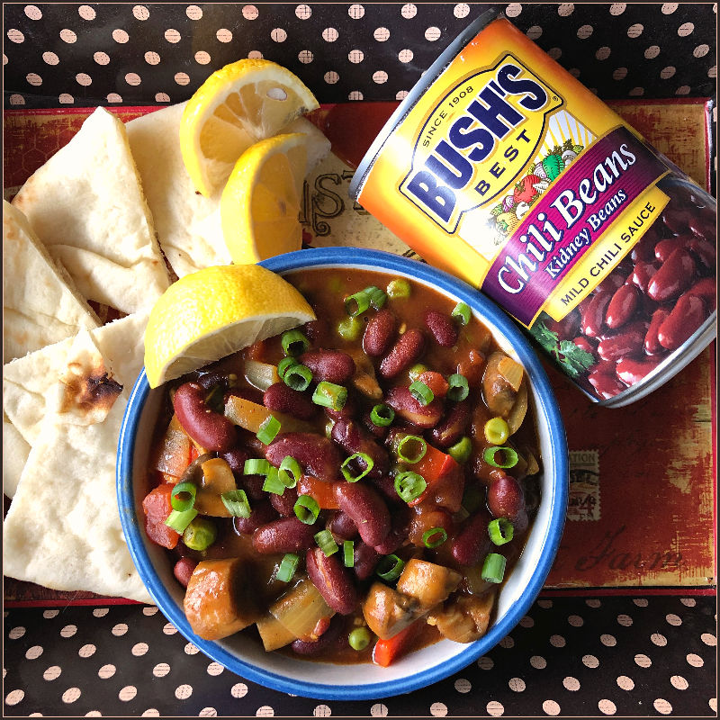 bowl of indian inspired chili