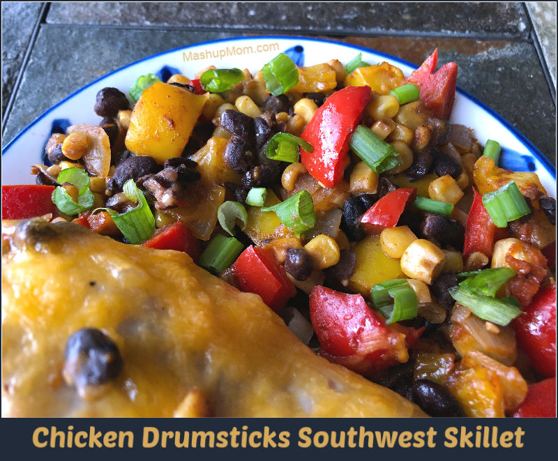 chicken drumsticks southwest skillet