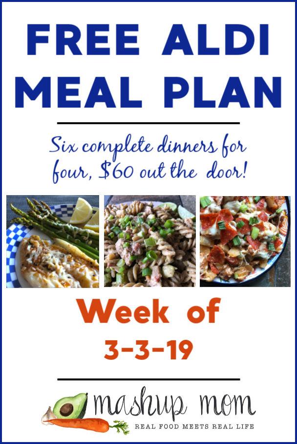 free aldi meal plan week of 3/3/19