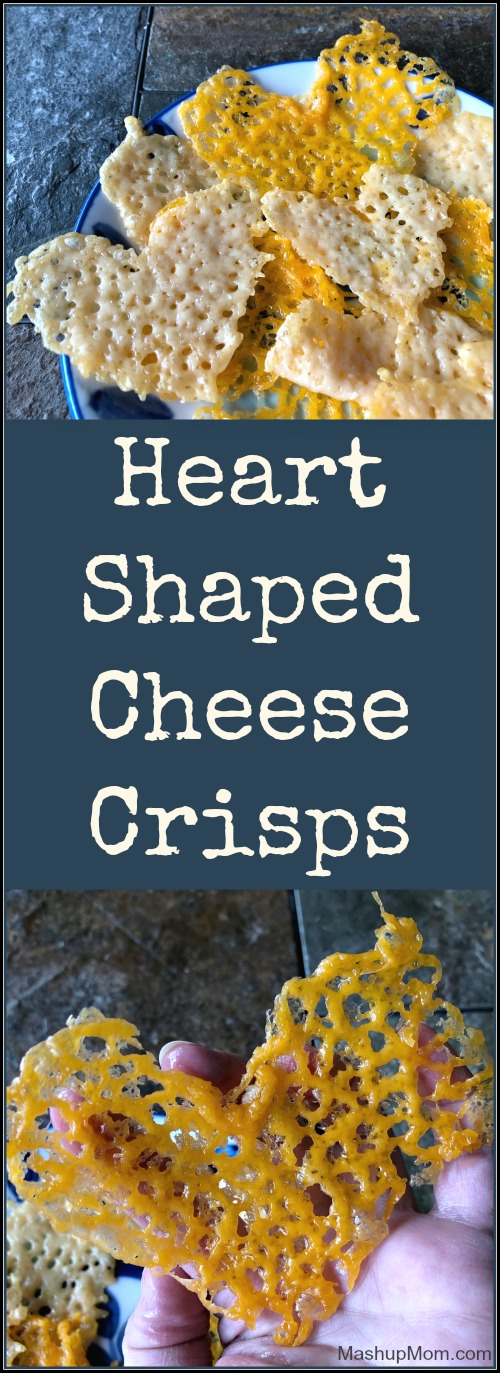 heart shaped cheese crisps
