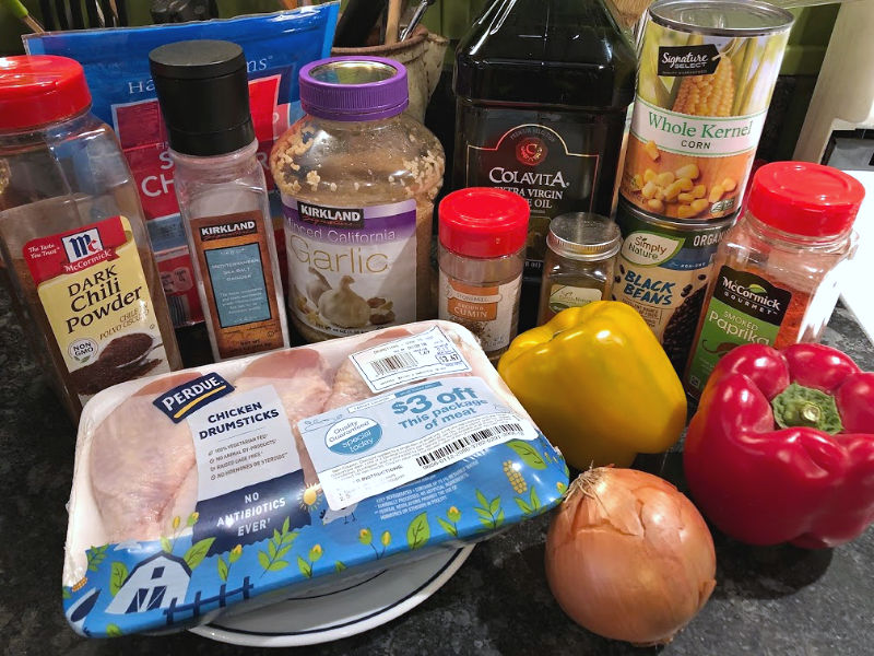 southwest chicken skillet ingredients