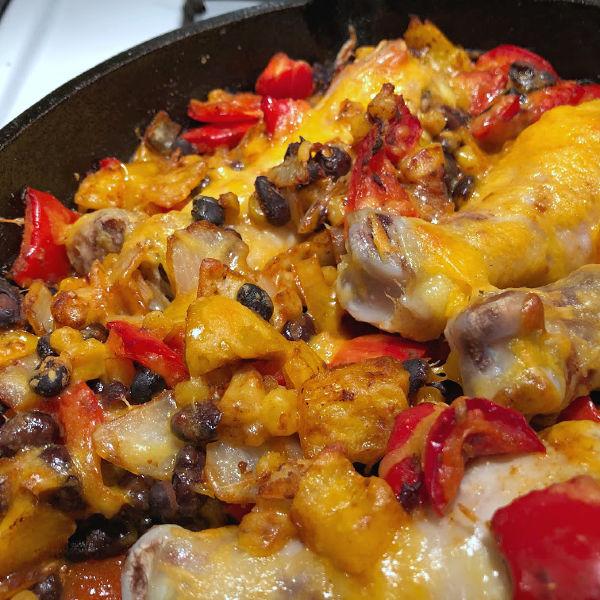 finished southwest chicken skillet