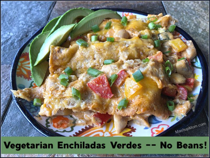 vegetarian enchiladas verdes