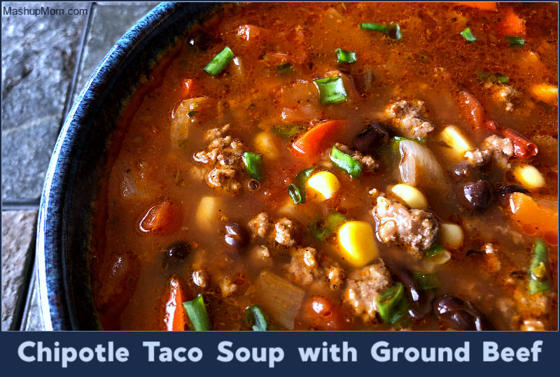 chipotle taco soup with ground beef