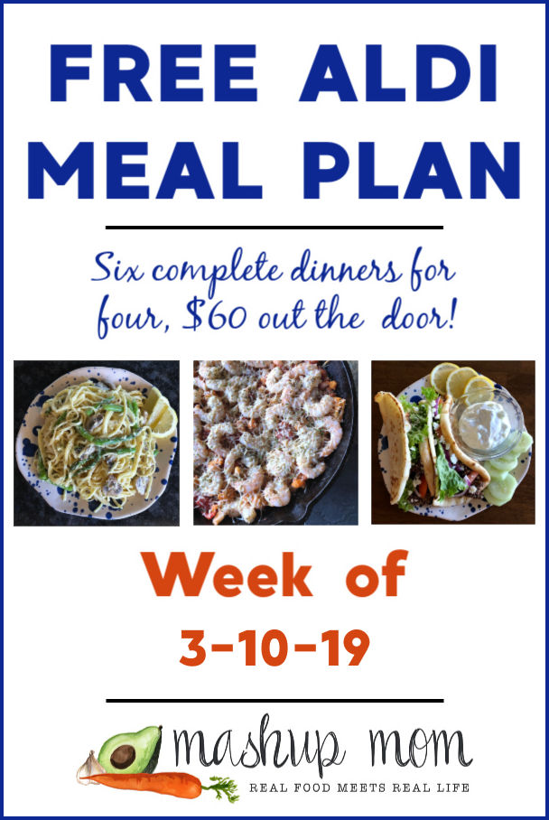 free aldi meal plan week of 3/10/19