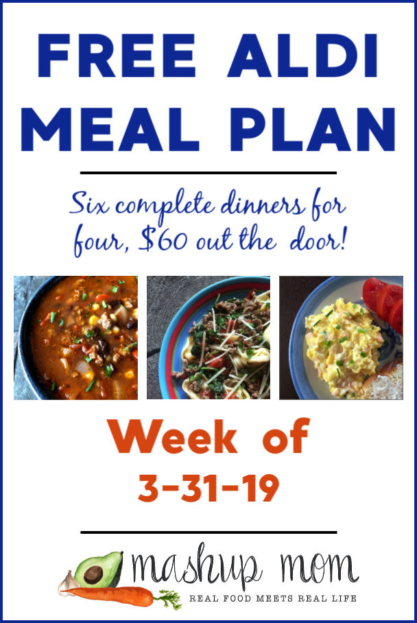 free aldi meal plan week of 3/31/19