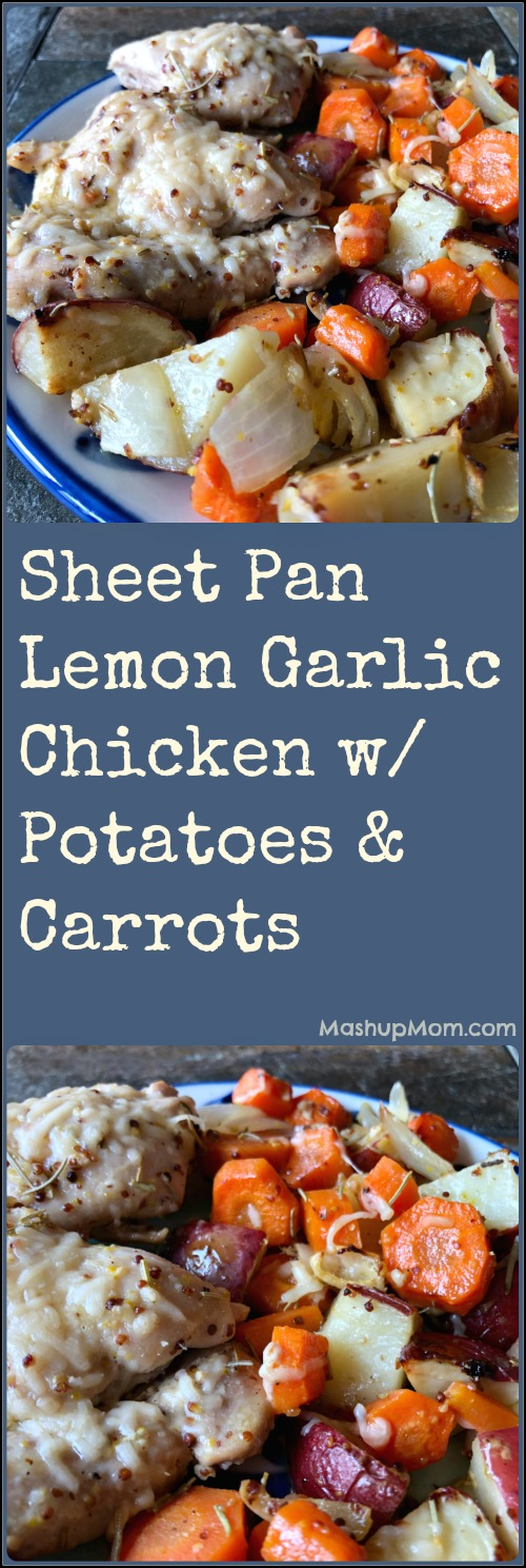 sheet pan lemon garlic chicken with potatoes