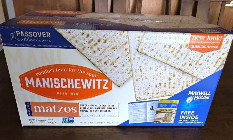 box of manischewitz matzos