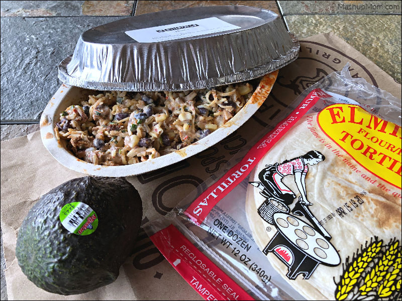 chipotle + aldi = dinner for four under $10