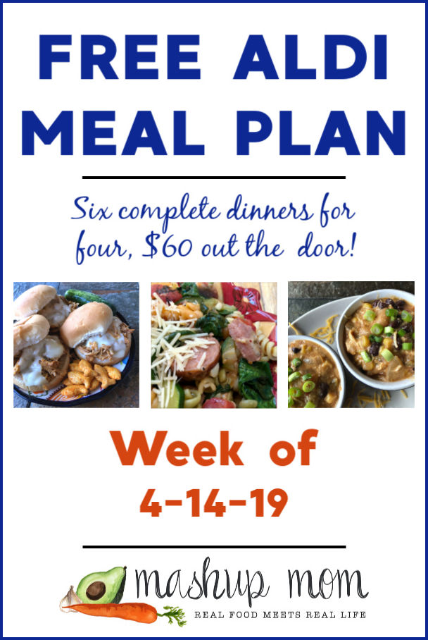 free aldi meal plan april 2019