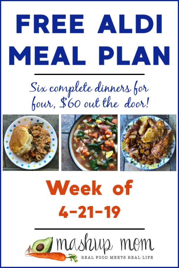 free aldi meal plan week of 4/21/19