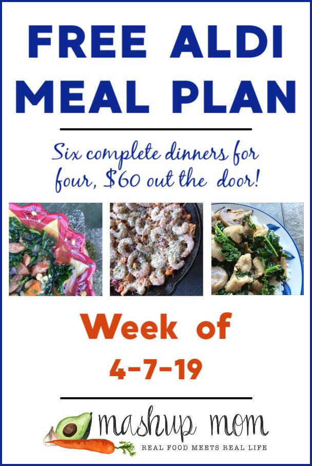 free aldi meal plan week of 4-7-19
