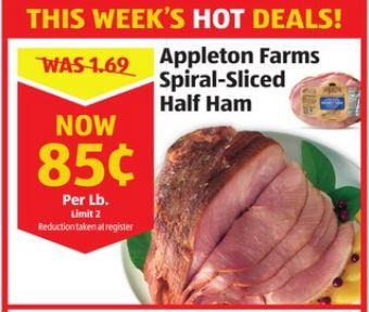 appleton farms spiral sliced ham