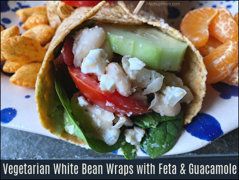vegetarian white bean wraps