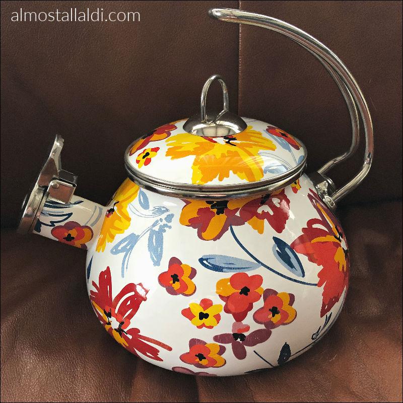 colorful ALDI tea kettle