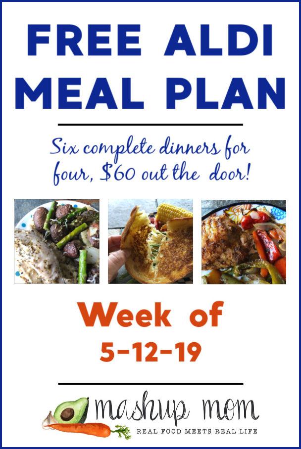 free aldi meal plan week of 5/12/19