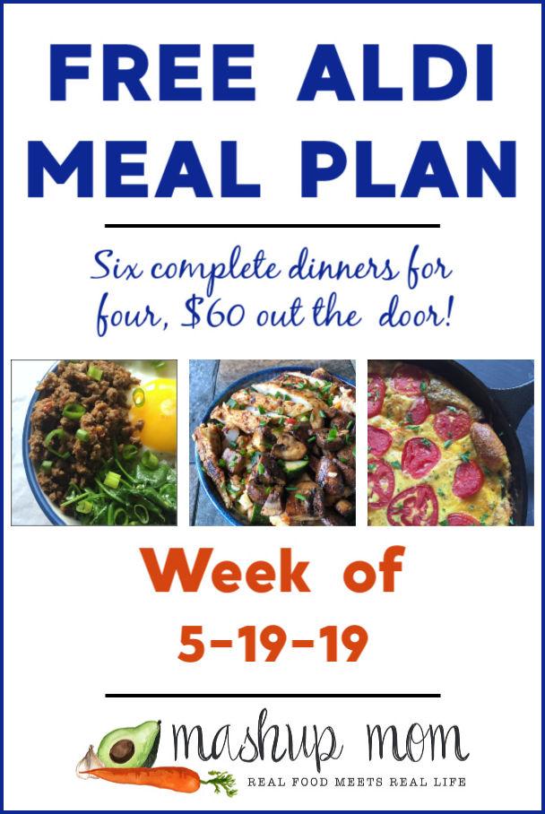free aldi meal plan week of 5/19/19