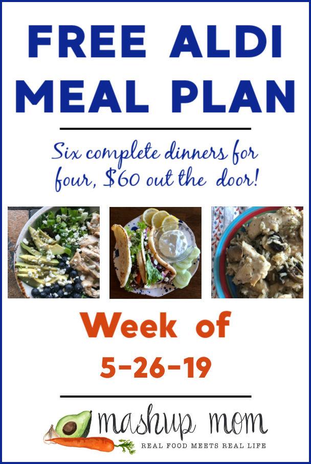 free aldi meal plan week of 5/26/19