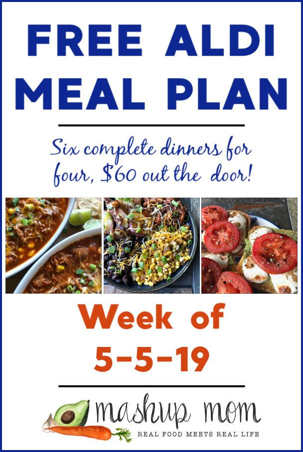 free aldi meal plan week of 5/5/19