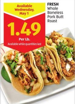 pork butt on sale at aldi