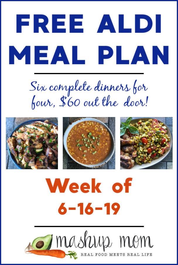 free ALDI meal plan week of 6/16/19