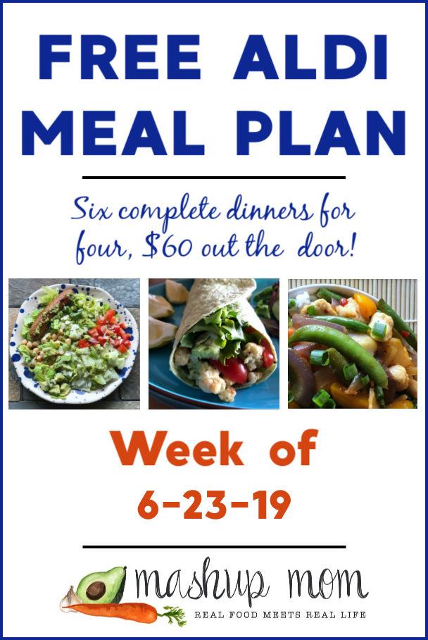 free aldi meal plan week of 6/23/19