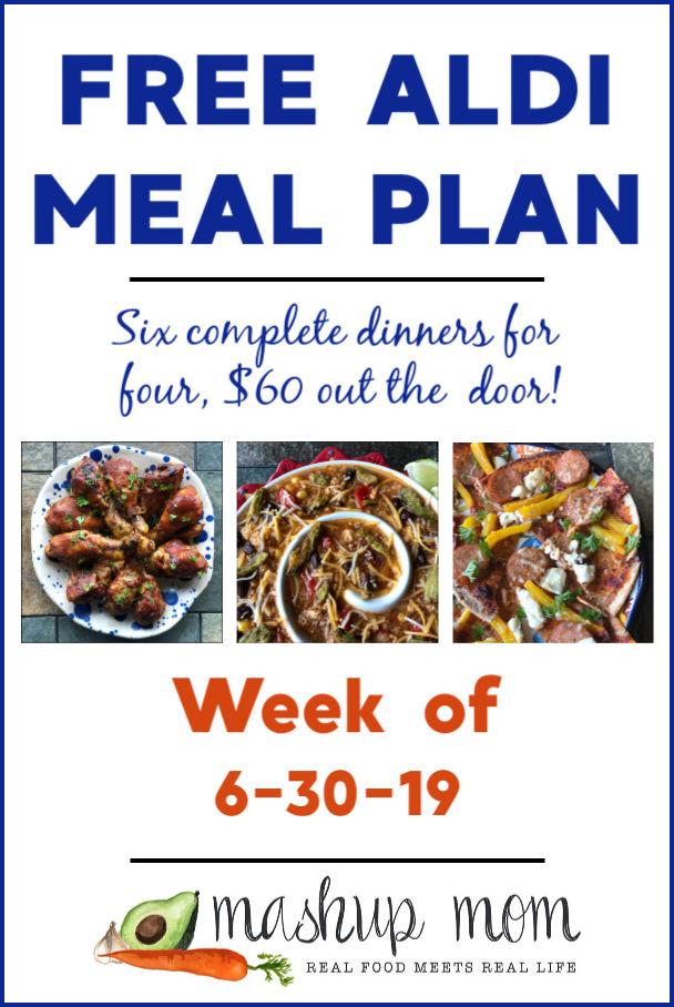 free aldi meal plan week of 6/30/19