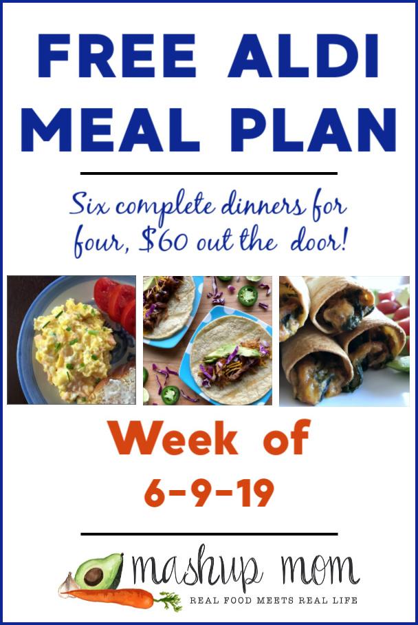 free aldi meal plan week of 6/9/19