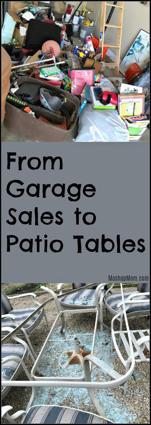 from garage sales to patio tables