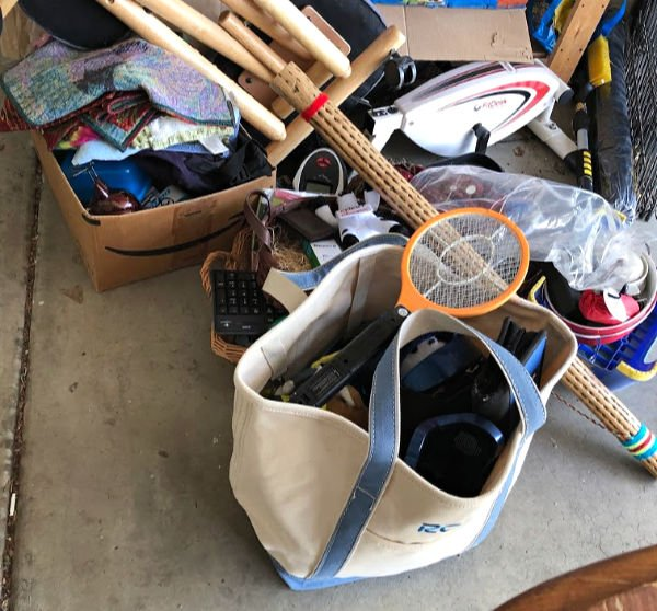 garage sale pile