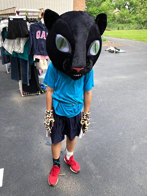 giant cat head costume